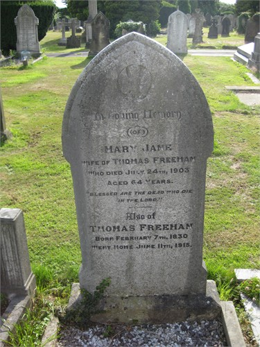 mary coombe and thomas freeman grave