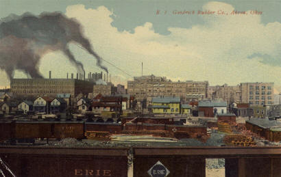 Akron rubber factory