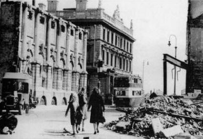 Bedford Street after the blitz