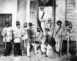 British soldiers at Lucknow