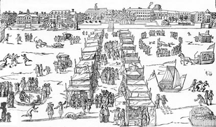 Frost fair on the Thames 1684