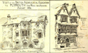 sketch of old house in Plymouth