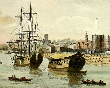 Boydell engraving of a view of Woolwich