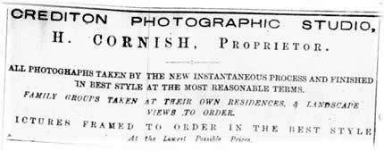 newspaper ad for cornish photographer