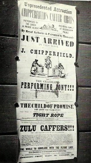 early poster rforJW Chipperfields circus