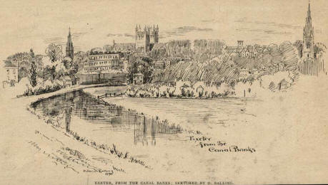 sketch drawn on canal bank