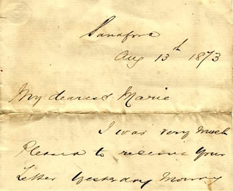 Lewis Wright Letter