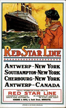 Red star poster