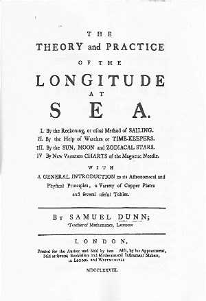 Title page longitude at sea