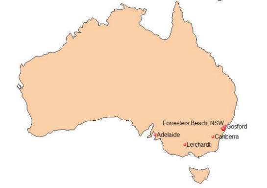 pickett australia map